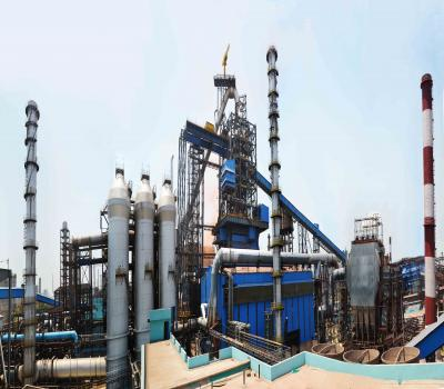 Durga- the new Blast Furnace # 5 of RSP with a useful volume of 4060 Cubic metres is designed for a production capacity of 2.8 MTPA with a daily hot metal production of 7924 T (avg.). The furnace commenced operation in August 2013.