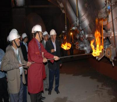 The then, Largest Blast Furnace of India, installed at SAIL's IISCO Steel Plant, being light up on 30th November 2014