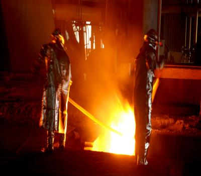 Production from one of the Largest Blast Furnace in India installed at IISCO Steel Plant.